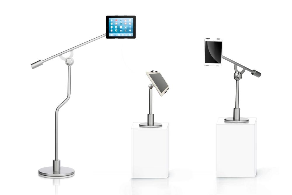 Universal tablet floor bed desktop stand