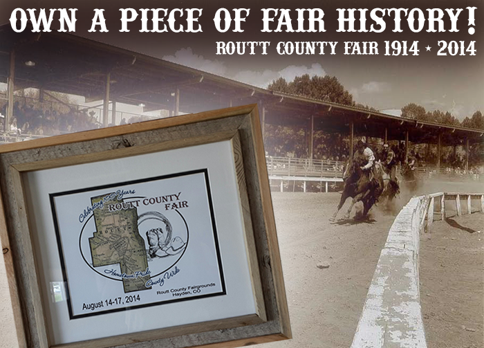 Photo frame locally hand-crafted from the railing surrounding the fairgrounds historic race track