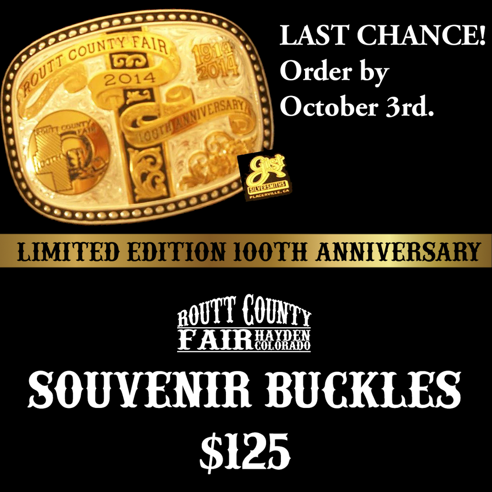 100th fair buckles