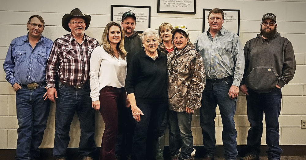 Pictured Left to right: Kaylee Matt, Alicia Samuelson,  Linda Long, Don Hayes, Dave Long, Keith Villa, Nance Brandenburg, Missy Wilhelm, Heather Rau