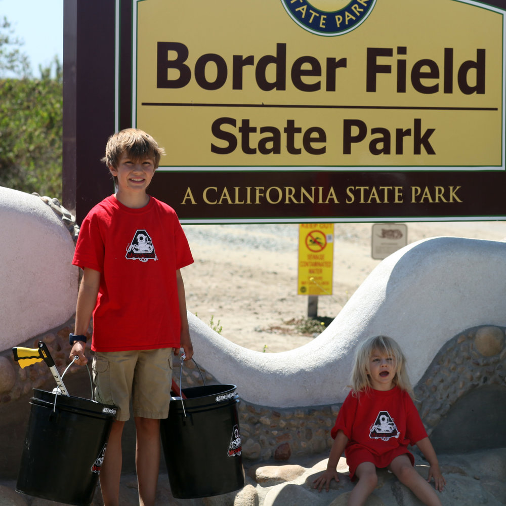 Connors Journey begins at Border Field Beach, at the California Mexico border