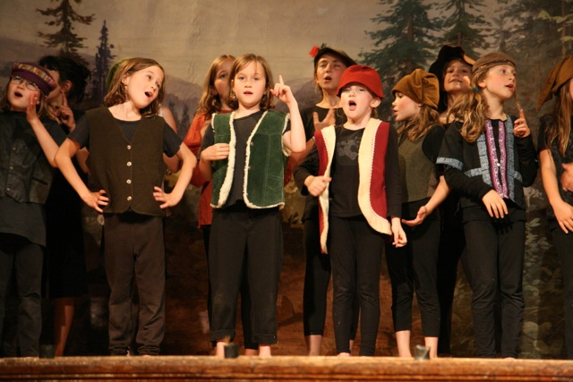 Some of our younger students playing forest ruffians