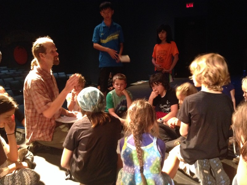 Pre-rehearsal powwow Oregon Camp 2014