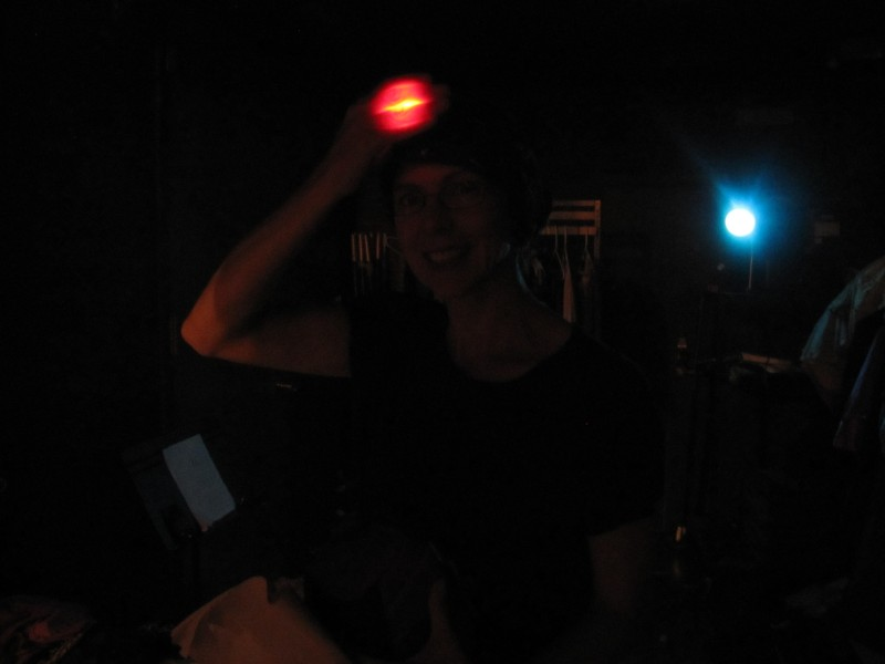 ...And if anybody needs help backstage, just look for the lady with the bouncing disembodied red light bulb!