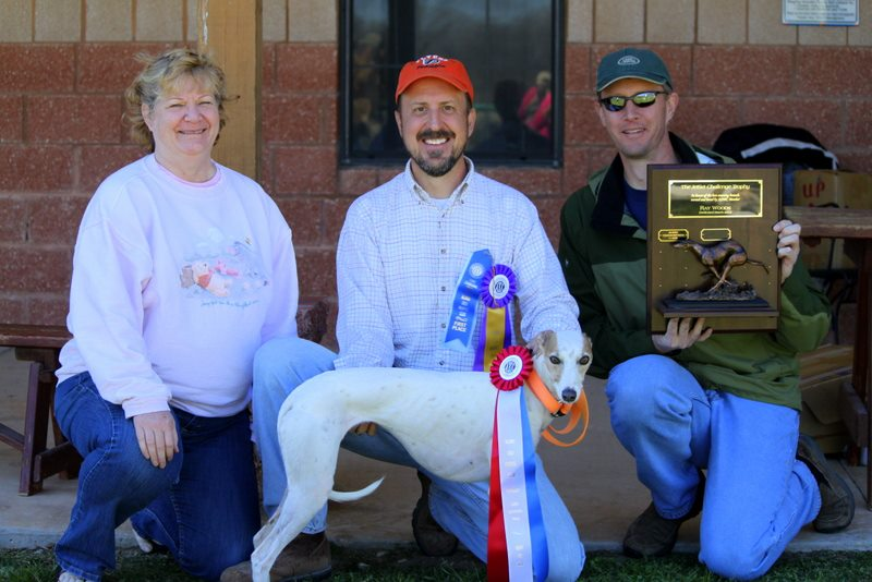 "2013 JetSet Challenge Perpetual Trophy Winner - Whippet - Shannon Down Surf's Up! ""Lani"" with Owner Matt Kinch."