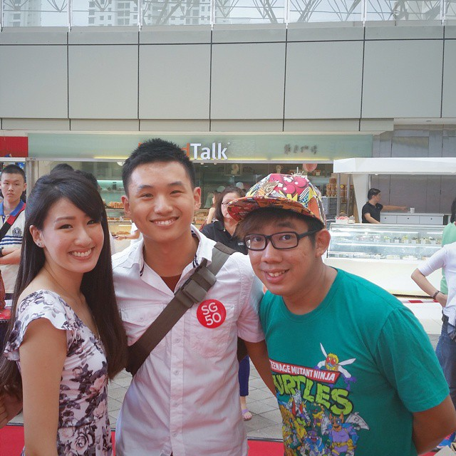 Picture with Kimberly and Gerald from 98.7FM! Even got to have an impromptu interview with them, which was aired nationwide!