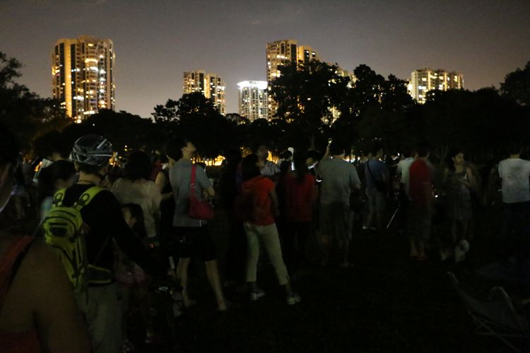 Albeit the light pollution, the turnout to view the night sky was great! / Photo Credit: OKJ Photography