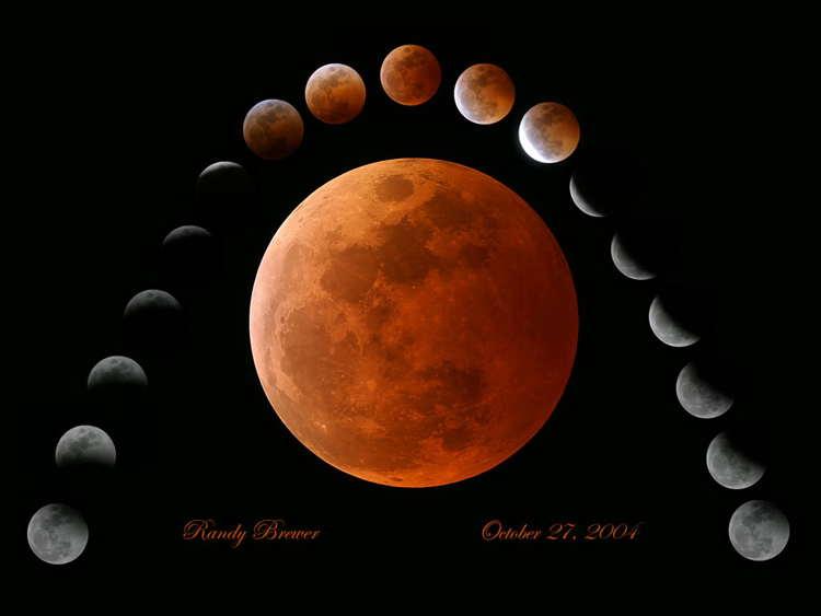 Total Lunar Eclipse on October 27, 2004