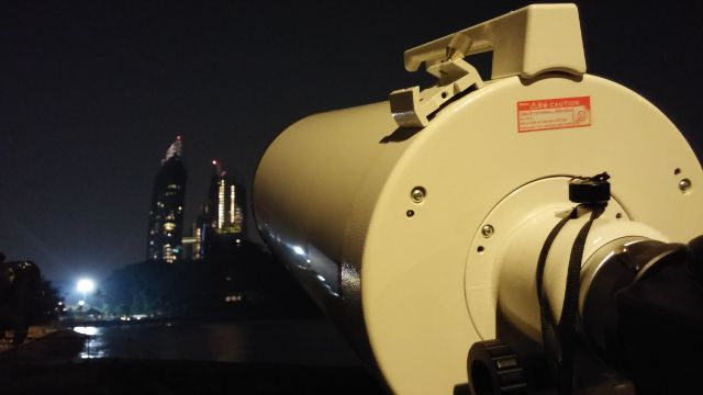 While waiting for the moon, TASOS pointed it's telescope to Reflections at Keppel Bay / Photo Credit: OKJ Photography
