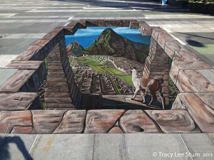 3D Chalk Machu Picchu/ Photo Credit:Tracy Lee Stum