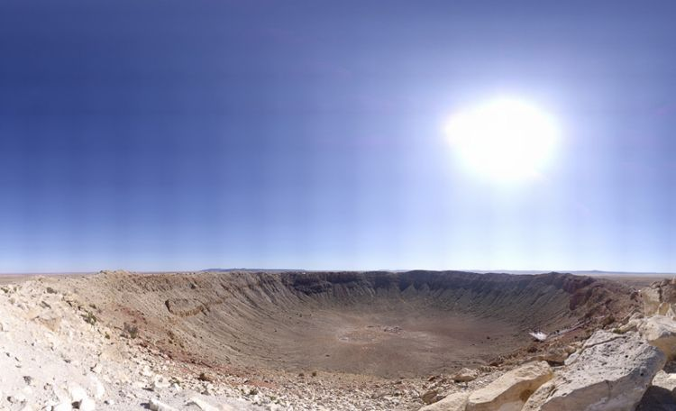 Meteor Crater (2 Gigapixels) / Photo Credit: Brian Lockett
