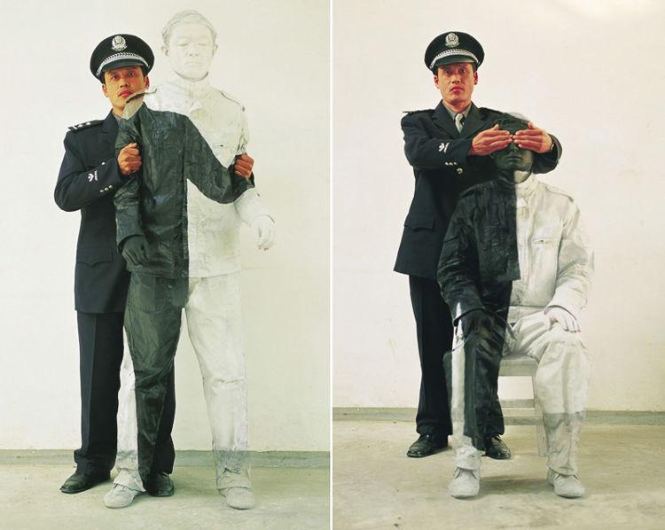 Officers / PhotoCredit: Liu Bolin