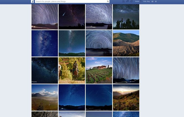 Facebook decided to box every single photo uniformly. While it should work well in theory, the result is a neat organisation, but at the cost of limiting the picture beauty while looking at the whole album.