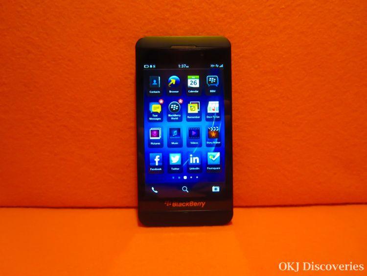 BlackBerry Z10 Screen /Photo Credit: OKJ Photography