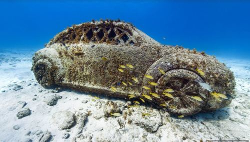 The Underwater Museum of Isla Mujeres, Mexico / Photo Credit: Google