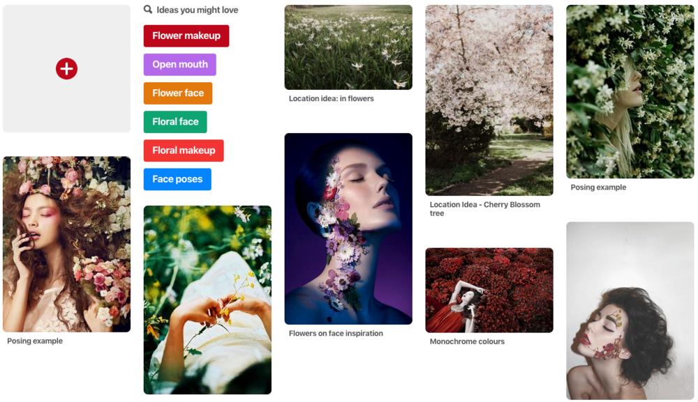 Garden Portrait - Moodboard