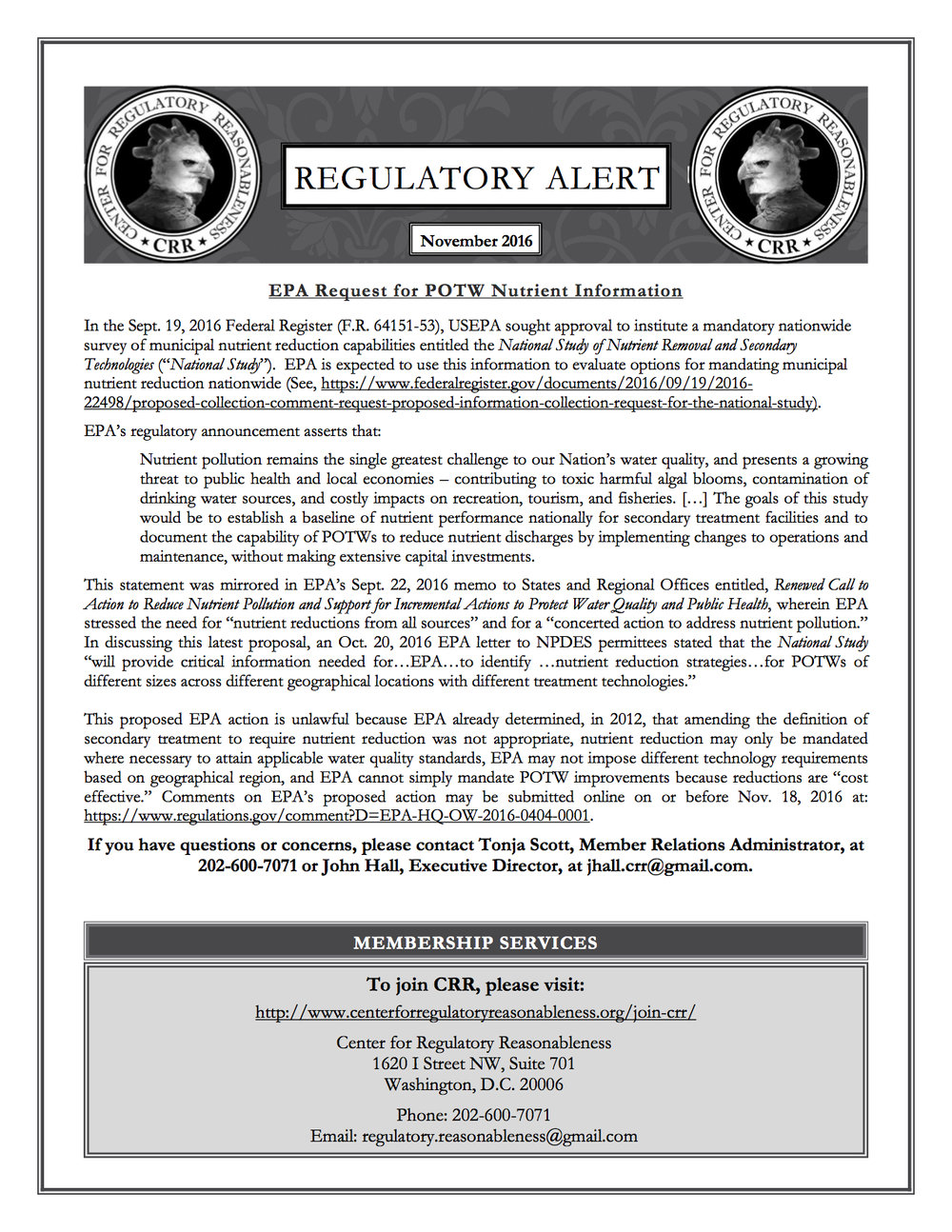 Regulatory Alert