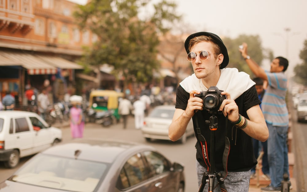 Rob shooting in Jaipur, India