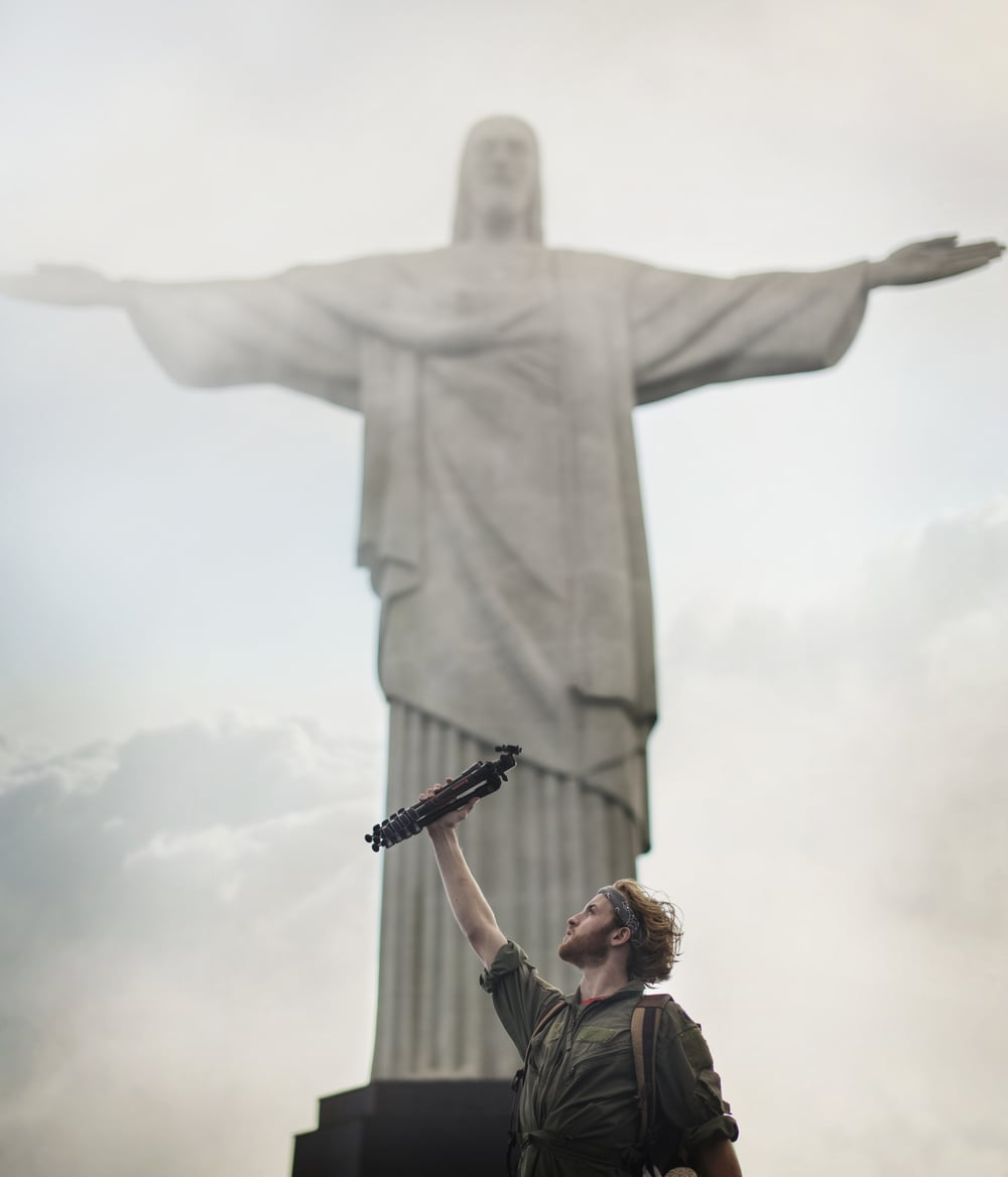 Visiting Cristo el Redentor in Brazil