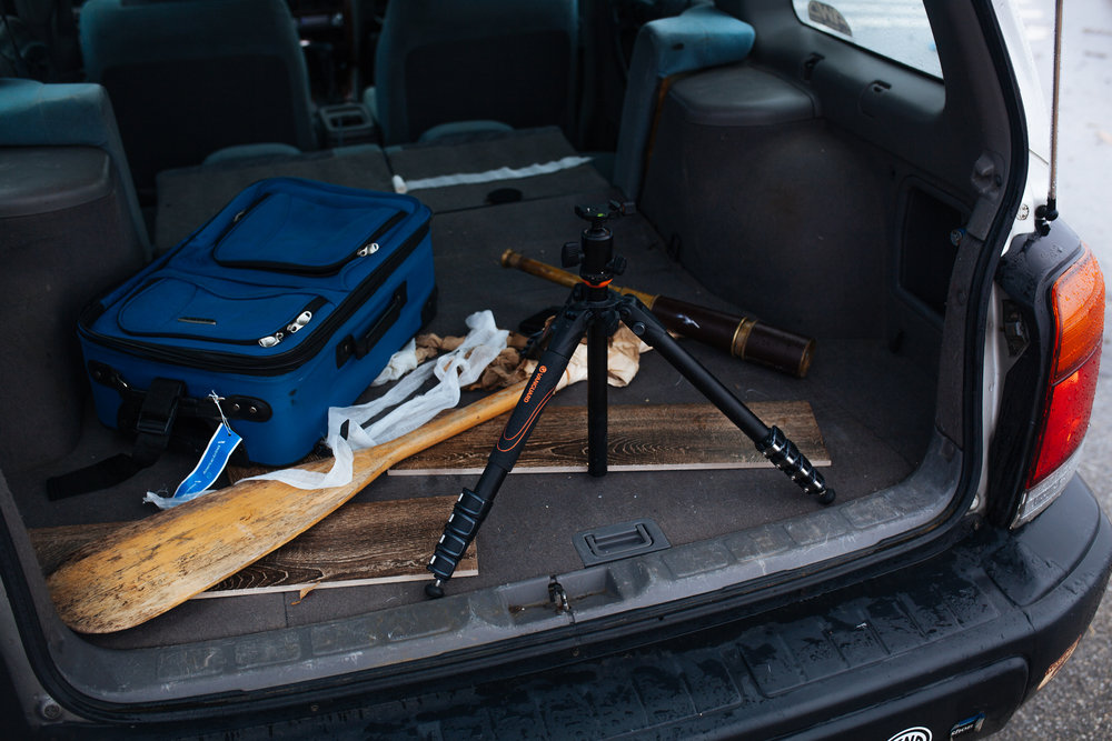 Trusty Vanguard VEO travel tripod set up