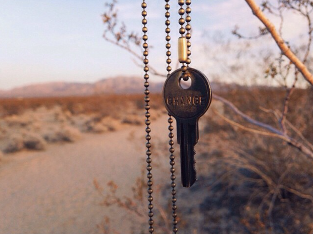 """The """"change"""" key given to me in 2014 by my friend Stephanie"""