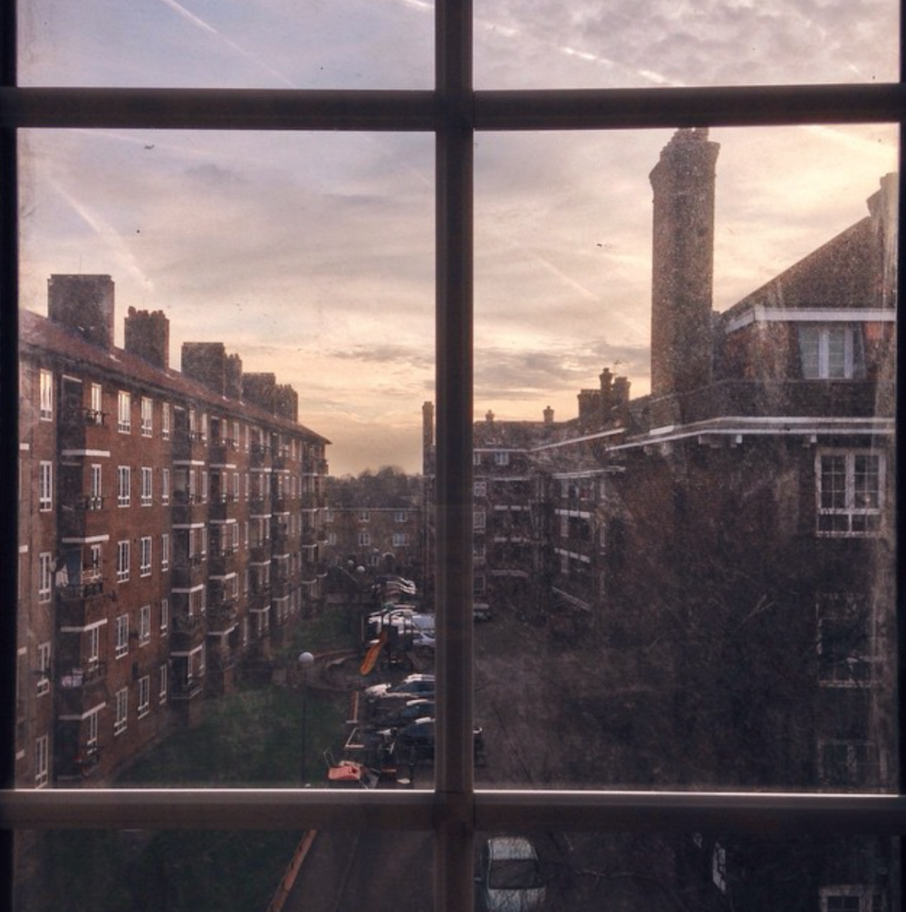 My apartment view in London in early 2015