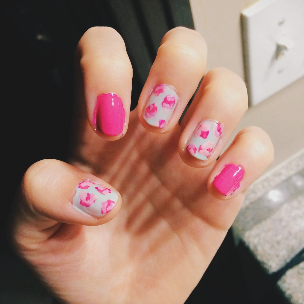 It's okay if the nail polish bleeds out around the edges of your nails. Just clean it up with a Q-tip and nail polish remover when you're done!