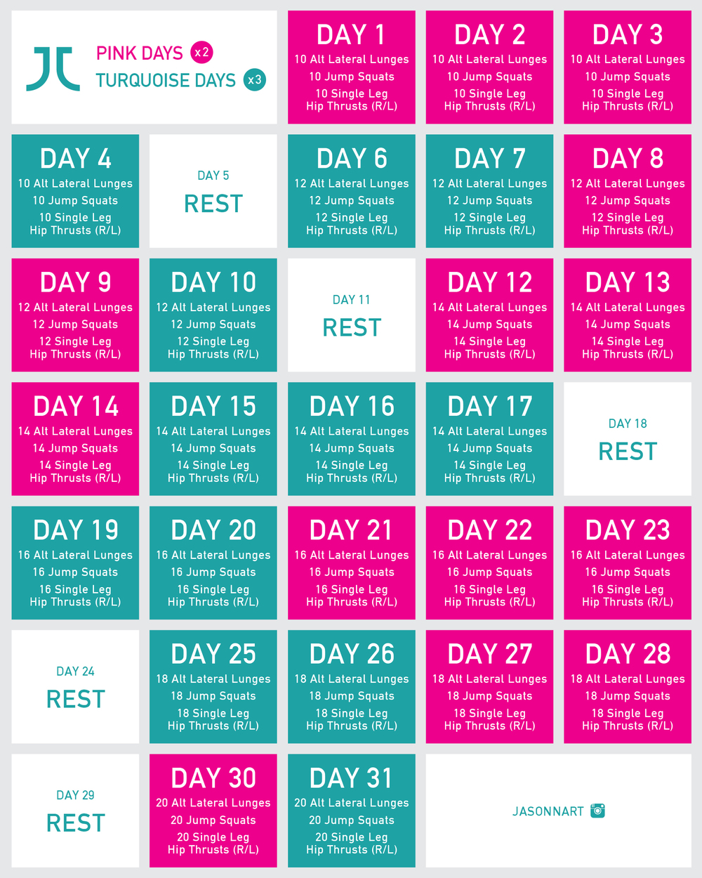 30 Day Lower Body Challenge - ELITE DAILY