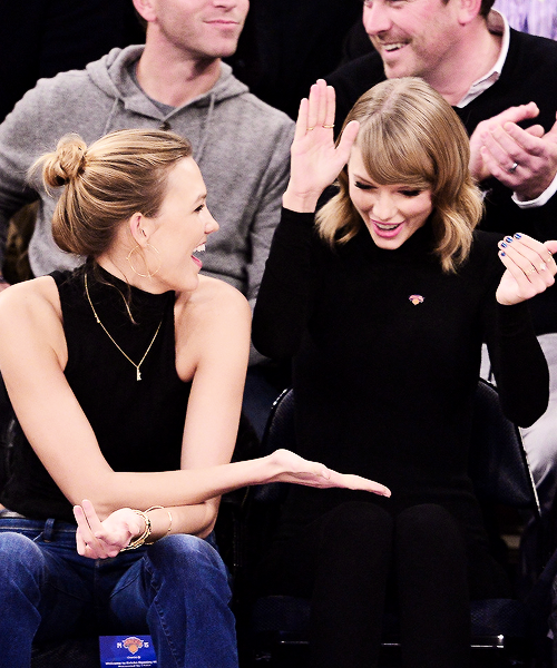 Taylor Swift with bestie Karlie Kloss. Swift has a lot of friends. It would be nice to be one of them.