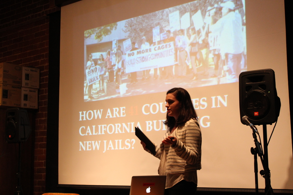 Claire Hirschberg ('15) addresses gender responsive incarceration. Photo by Taylor Haas '18.