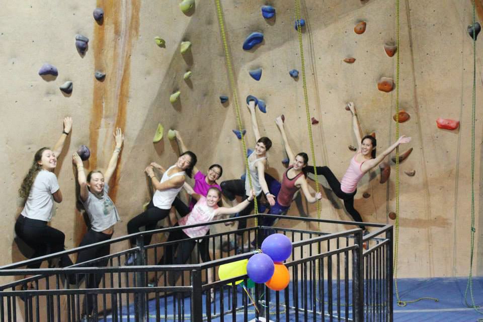 OWL members at Hangar 18 in early February. Photos courtsey of Scripps Outdoor Women Leaders (OWL).