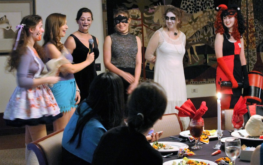 Scripps College students enjoyed a night in costume at this year's Halloween Candlelight Dinner. Photos by Anita Ho '19