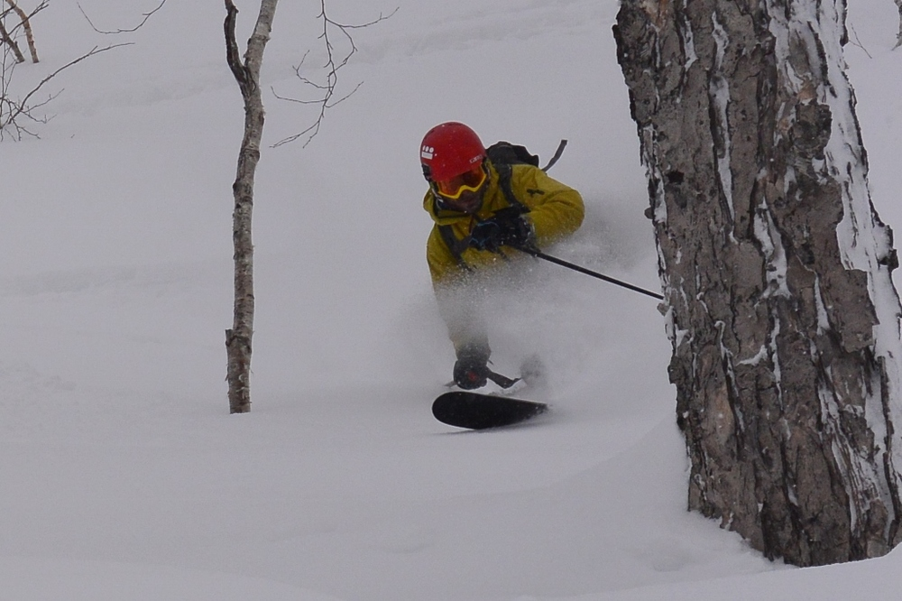 Sheltered pow on a windy day - the back bowls deliver yet again. © The Powder Project Pty Ltd