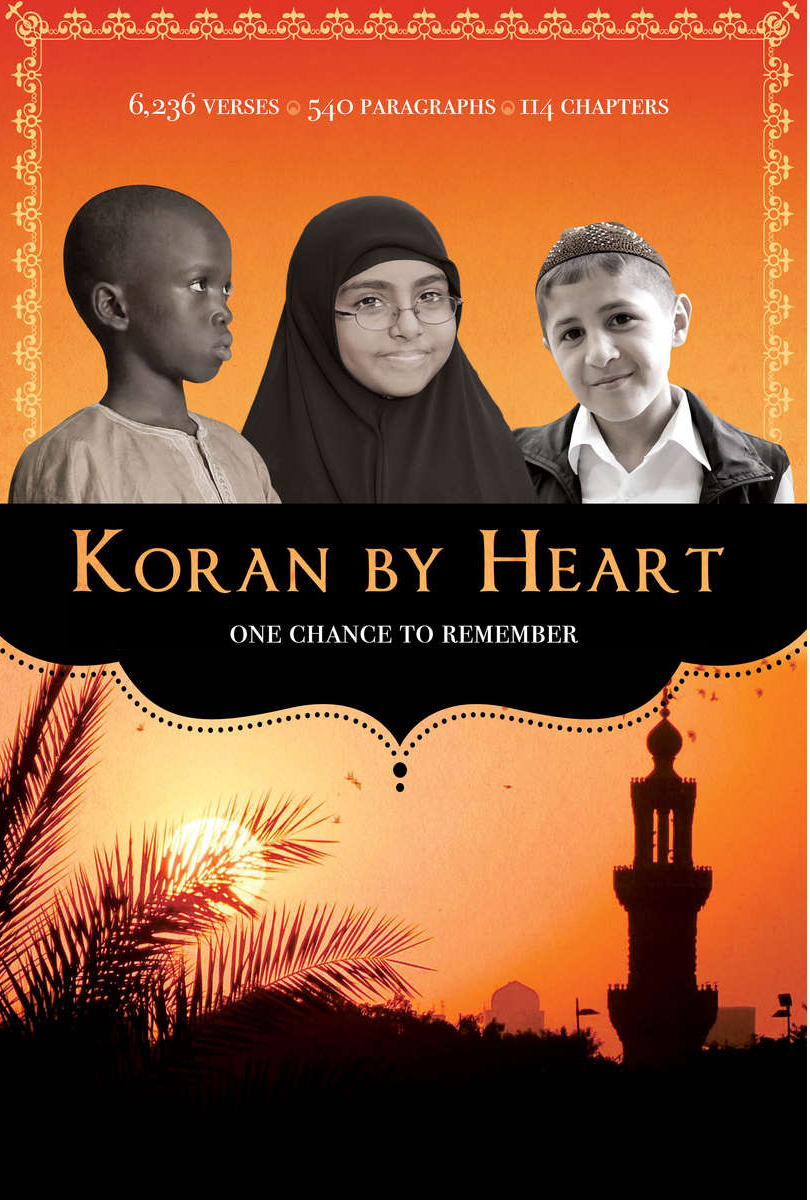 KORAN BY HEART   It's a spelling bee for kids who've memorized the Koran by heart.  And yet it's so much more.  This film was great fun to make, and the compelling stories of three amazing 10-year olds transcend religion and cultures.   2011 Tribeca Film Festival Streaming on HBO GO and HBO NOW