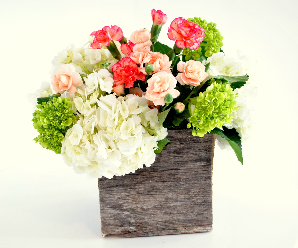 Barn Wood Rustic Vase Centerpiece.