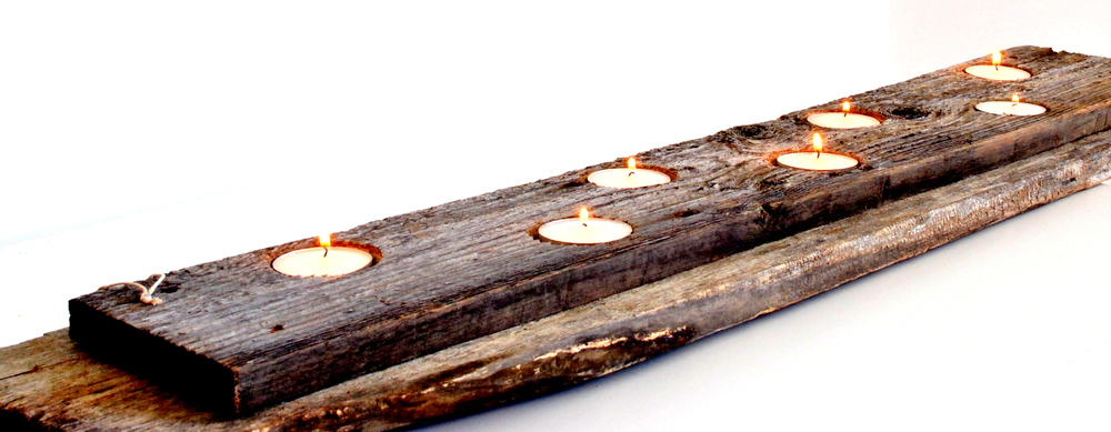 Barn Wood Rustic Tea Light Holders