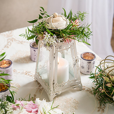 White Enchanted Metal Lantern