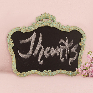 Green Vintage Ornate Chalkboard