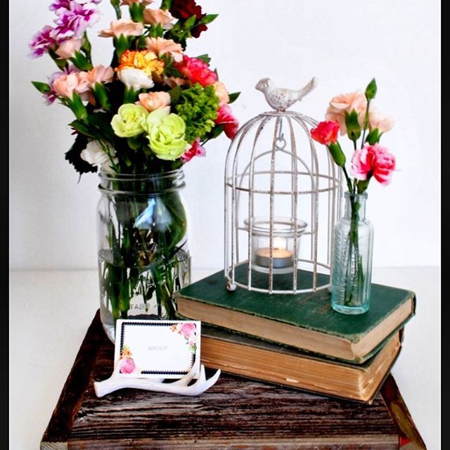 Barn Wood Flat Centerpieces