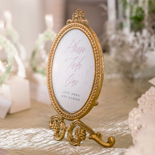 Small Oval Ornate Gold Frame