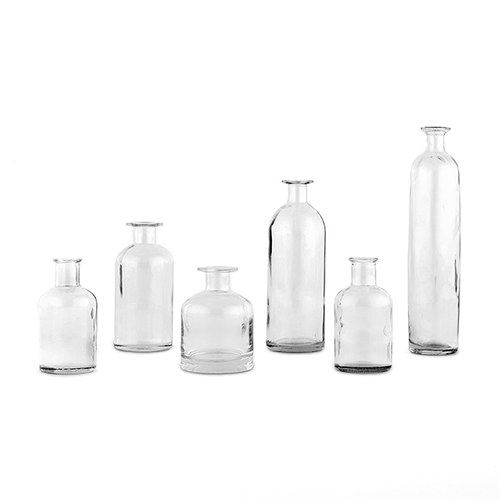 Assorted Clear Vases