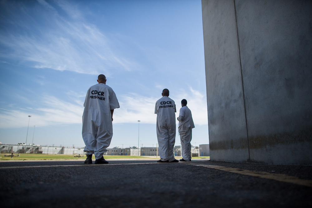 Inmates look out on the exercise yard for the general population at Corcoran State Prison. Only 558 of the prison's 4,386 inmates are in the general population with its more lenient rules. The rest are placed in facilities with some level of isolation and heightened security.