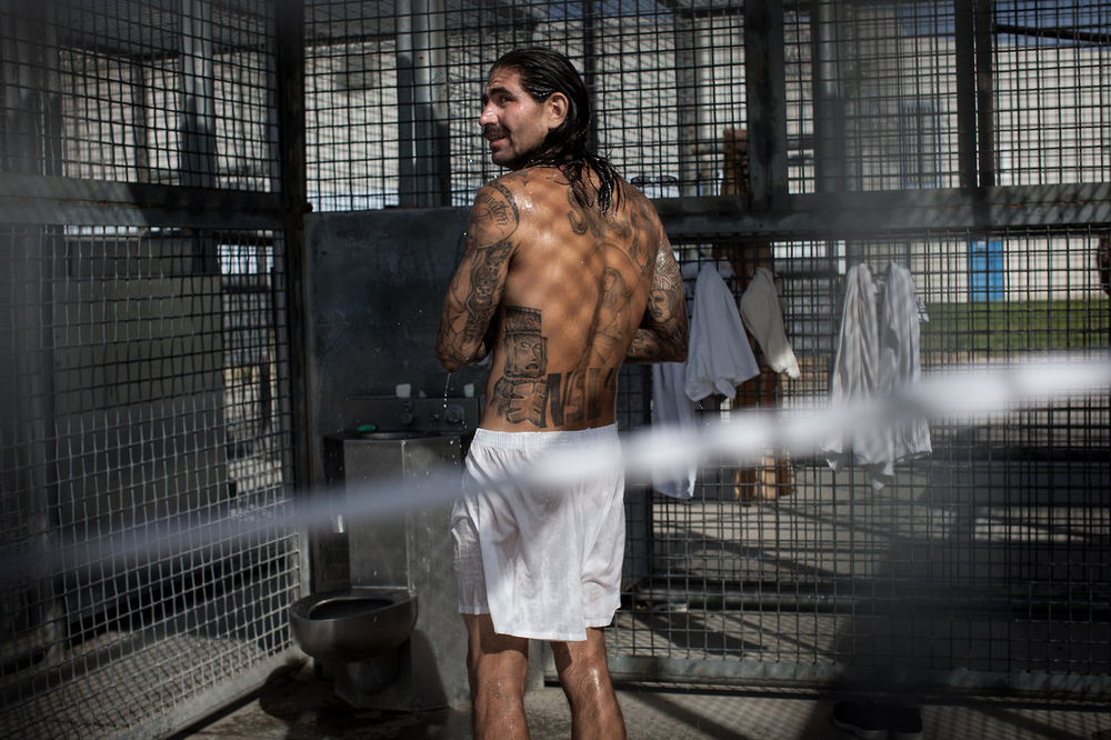 Some men exercise alone in the cages outside, doing pull-ups and walking in circles around the cage. There is an open shower and toilet in each cage.  The state of California spends at least 20 percent more to keep inmates in SHUs – more than $12,000 per inmate per year.