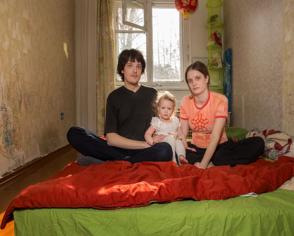 Polina and Ivan with their daughter Vasilisa in their home.Polina studied in South Korea and speaks fluent English. Ivan programs set-top cable boxes for American and Russian televisions. It's the second tech company he has worked for in Akademgorodok.