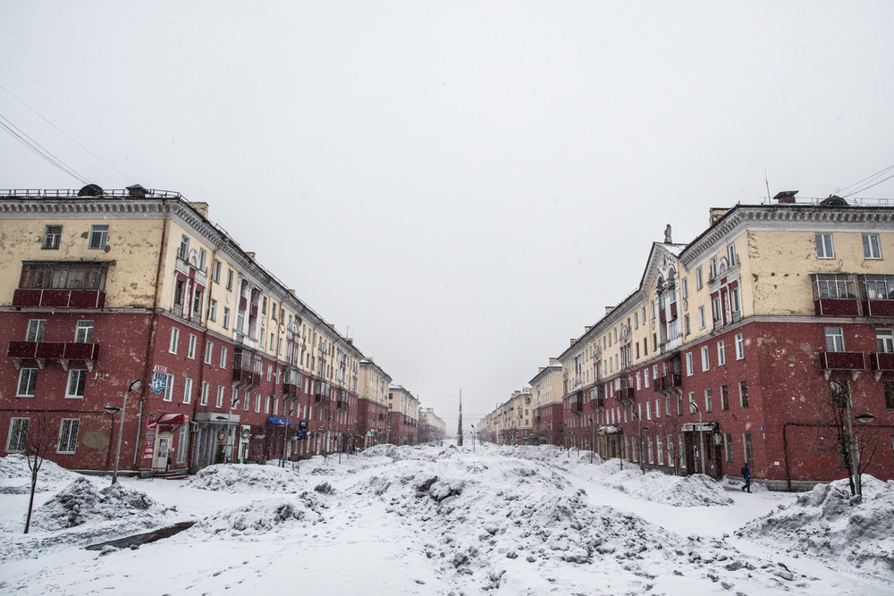 Stalin Street in Mezhdurechensk.