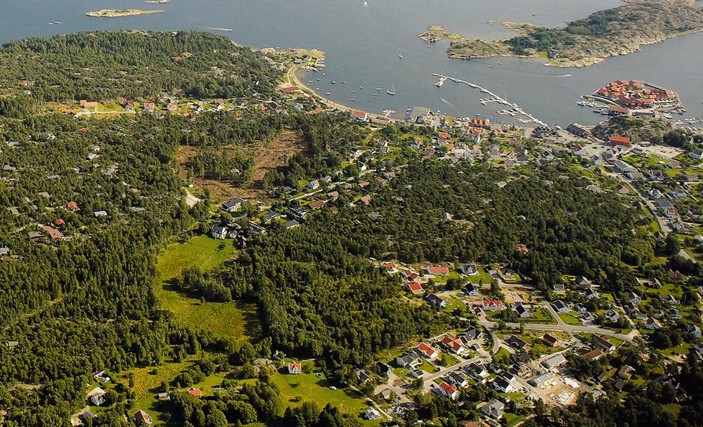 Skjærhalden er det største tettstedet på Hvaler. Klikk på bildet for å forstørre.