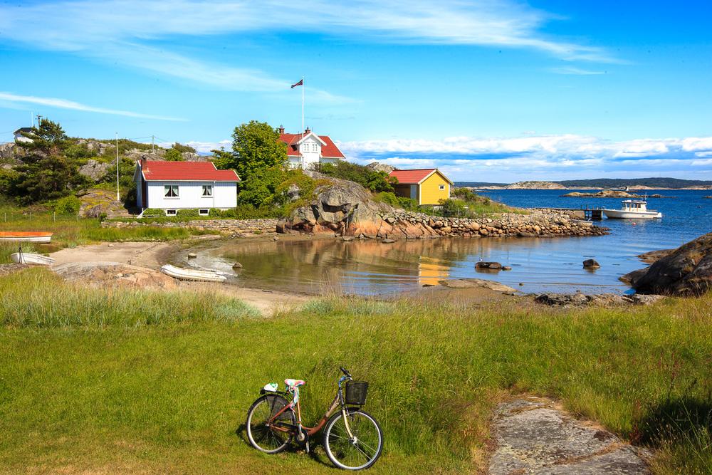 Andholmen er et idylliske parti på øyas sydøstlige side.