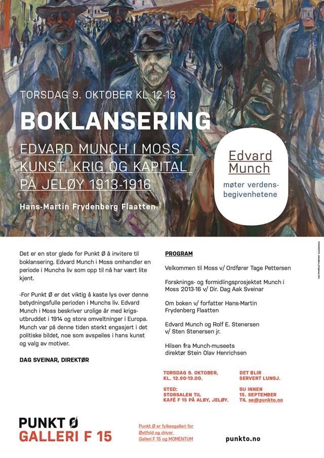 Boklansering Edvard Munch i Moss