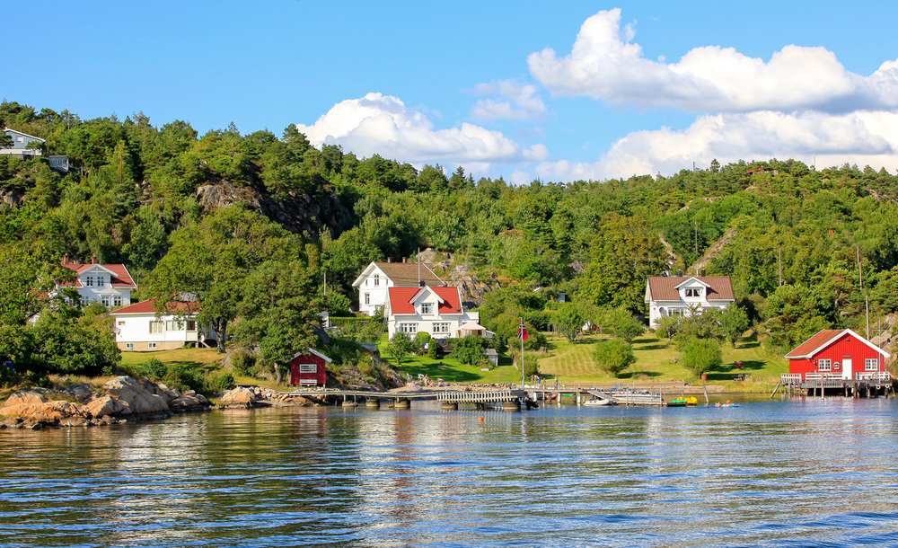 Nordre Sandøy er kjent for sitt vakre miljø med gamle fritidsboliger.
