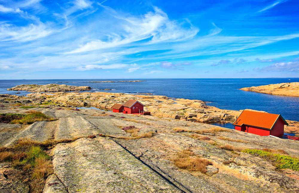 Et slikt landskap er typisk for kyststien på Vesterøy. Her fra litt syd for Kuvauen.